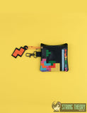 TETRIS zip bag with dangle 4x4 ITH machine embroidery design