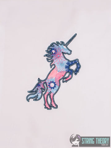 Spiro Unicorn 5x7 machine embroidery design