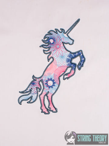 Spiro Unicorn 6x10 machine embroidery design