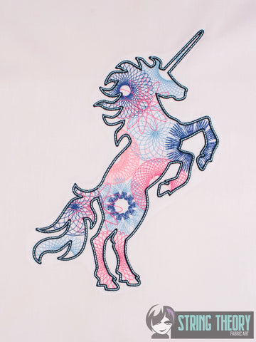 Spiro Unicorn 7x11 machine embroidery design