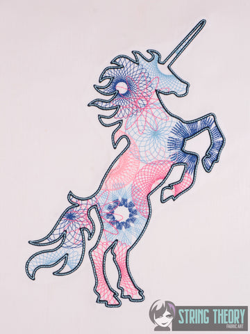 Spiro Unicorn 8x12 machine embroidery design