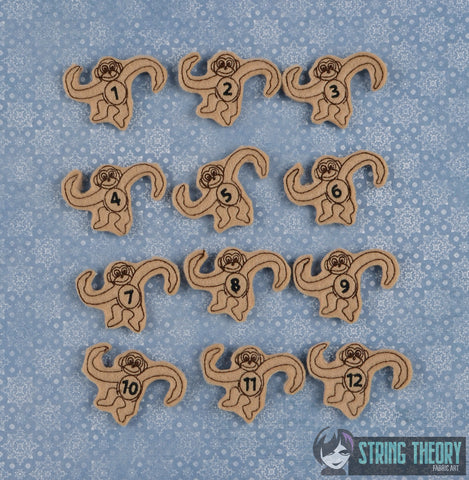 12 Counting Monkeys feltie 12ITH 5x7 machine embroidery design
