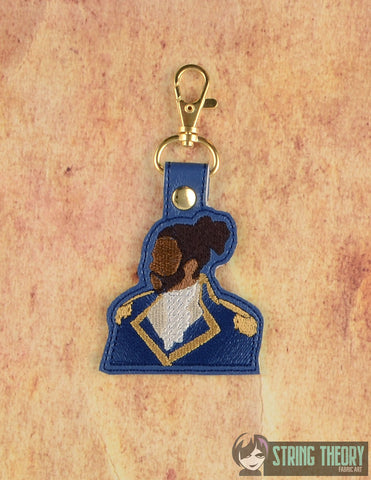 Lafayette minimalist snap tab key fob 4x4 machine embroidery design