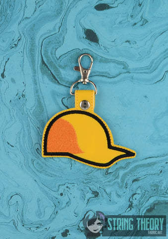 Dirk's Hat snap tab key fob 4x4 machine embroidery design