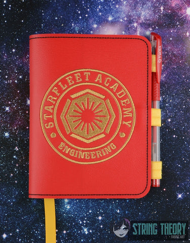 Star Exploration Academy- Engineering LUXE BOOK NOTEBOOK COVER for A6 notebooks ITH 6x10 MACHINE EMBROIDERY DESIGN