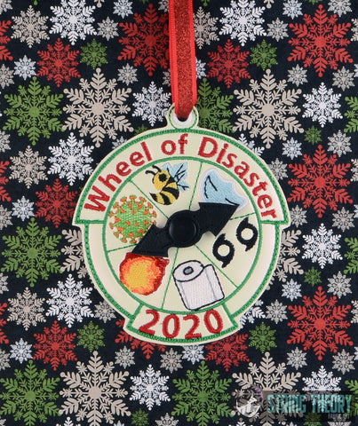 2020 STFA Commemorative Ornament - Wheel of Disaster ITH machine embroidery design