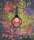 Handheld Game Fully Lined 5x7 with magic mushroom dangle ITH MACHINE EMBROIDERY DESIGN