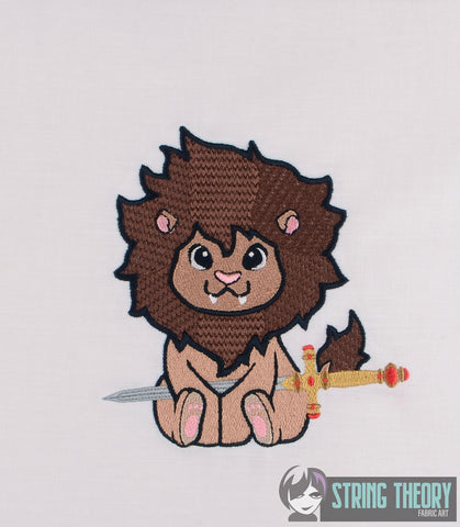Sword Lion 5x7 MACHINE EMBROIDERY DESIGN