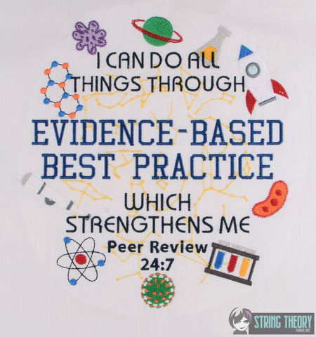 I can do all things Evidence-based best practice 8x12 MACHINE EMBROIDERY DESIGN