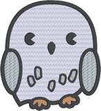 Spell Academy Chibi Owl 4x4 machine embroidery design