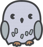 Spell Academy Chibi Owl  5x7 machine embroidery design
