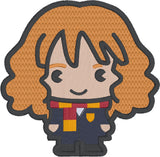 Spell Academy Chibi Frizzy Haired Girl Student 4x4 machine embroidery design