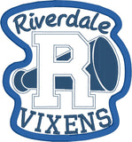 Lakeville Vixens patch ITH 5x7 machine embroidery design