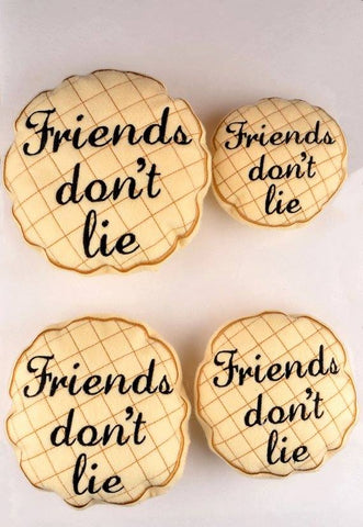 """Unusual Stuff"" Friends don't lie waffle stuffie 4 sizes ITH machine embroidery design"
