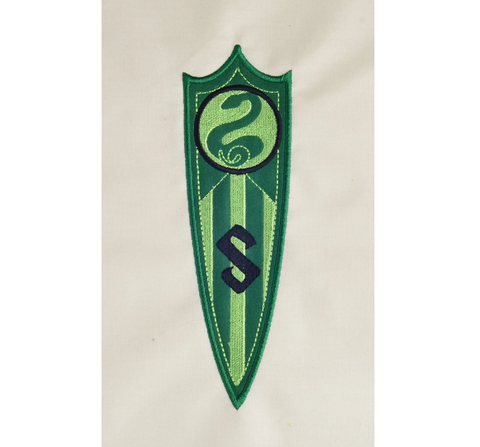 Serpent Coat of Arms  pennant banner appliqué  5x7 machine embroidery design