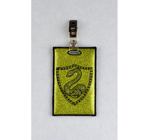 Serpent Coat of Arms ID Badge holder 4x4 ITH machine embroidery design