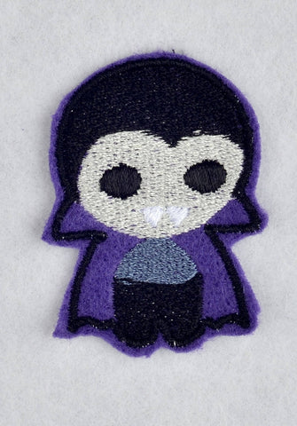 Cute Vamp ITH feltie 4 to the hoop machine embroidery design 4x4