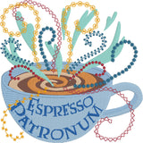 Espresso Patronum Machine Embroidery Design 5x7