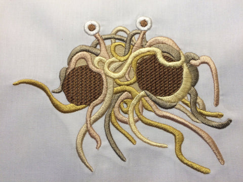 Flying Spaghetti Monster Machine Embroidery Design 5x7