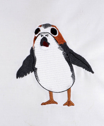 Star Battles Startled Space Penguin 5x7 machine embroidery design