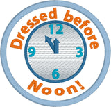 Adult Merit Badge Dressed before noon Badge/Patch/Appliqué embroidery pattern