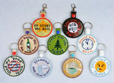 Adult Merit Badge ALL NINE snap tab key fob machine embroidery designs 4x4
