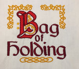 Bag of Holding machine embroidery design 4x4