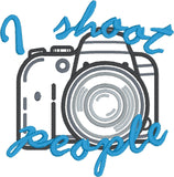 DSLR camera I shoot people 4x4 machine embroidery design