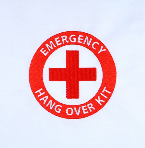 Emergency Hang Over Kit 5x7 machine embroidery design
