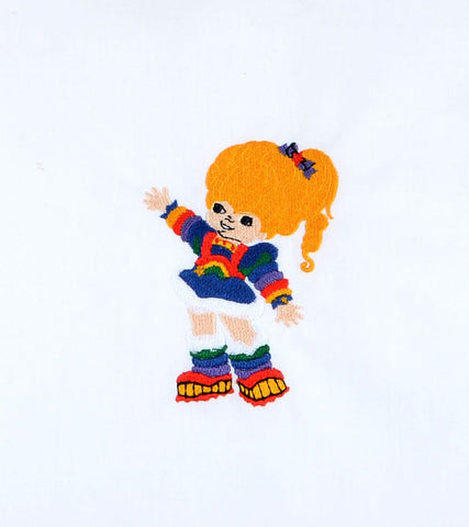 80S Color Girl 4x4 machine embroidery design