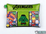Tiny Heroes Angry Green Hero zip bag 4 sizes SET with DANGLE ITH machine embroidery designs