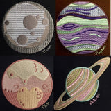 Solar System Planet Pack 11 different Machine Embroidery Designs 4x4