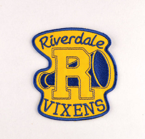 Riverdale Vixens patch ITH 4x4 machine embroidery design