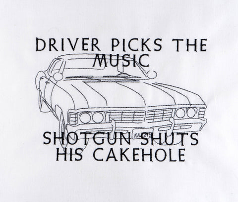 Supernatural Driver picks the music machine embroidery design 5x7