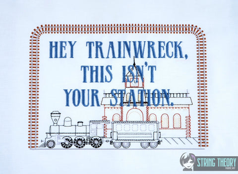 Hey trainwreck, this isn't your station faux sampler 7x11 machine embroidery design