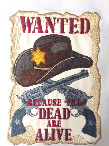 Rick Wanted Poster Aplique 5x7 Machine Embroidery Design