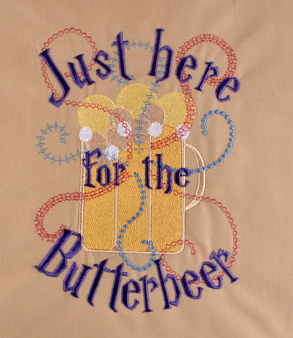 Just here for the Butterbeer 5x7 machine embroidery design