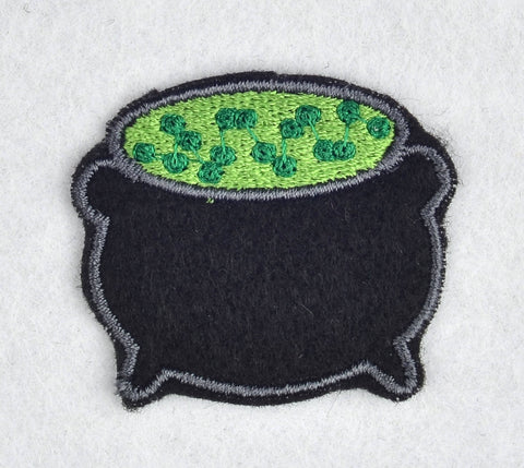 Cauldron ITH feltie 4 to the hoop machine embroidery design 4x4