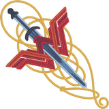 Wonder Woman Sword Symbol Lasso 4x4 machine embroidery design