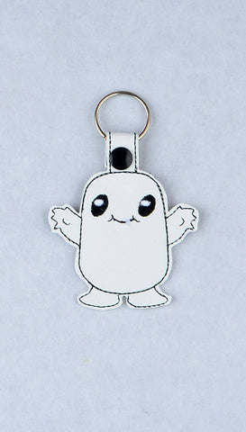 Adipose snap tab key fob ITH machine embroidery design 4x4