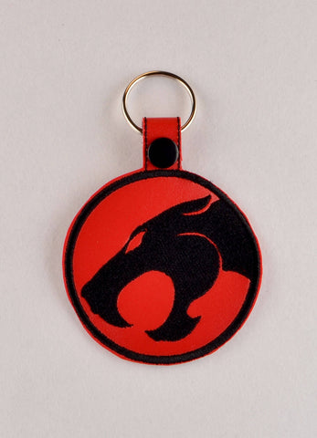 Thundercat ITH snap tab key fob 4x4 machine embroidery design