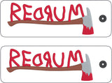 REDRUM traditional style book mark 2ITH 5x7 machine embroidery design