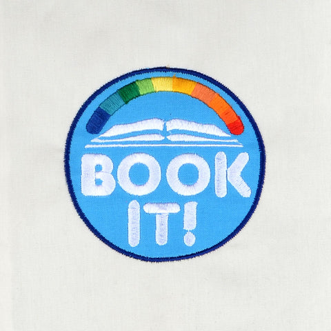 Book It! appliqué 4x4 machine embroidery design