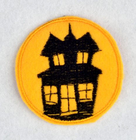 Haunted House ITH feltie 4 to the hoop machine embroidery design 4x4