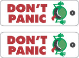 Don't Panic traditional style book mark 2ITH 5x7 machine embroidery design