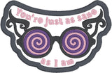 Luna Lovegood You're just as sane as I am patch ITH 4x4 machine embroidery design
