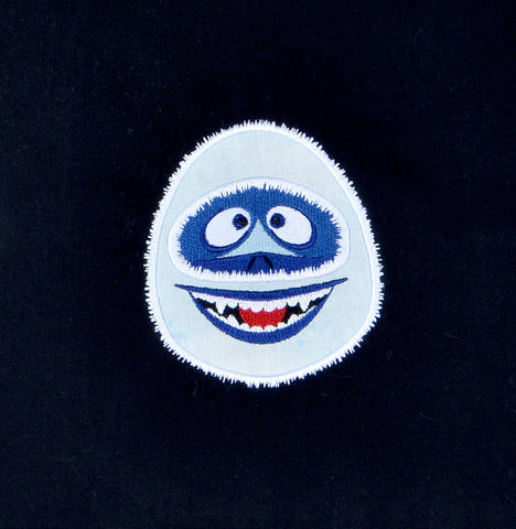 The Abominable Snowman applique 4x4 machine embroidery design