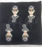 Associate Justice Ruth Bader Ginsburg ITH feltie 4 to the hoop machine embroidery design 4x4