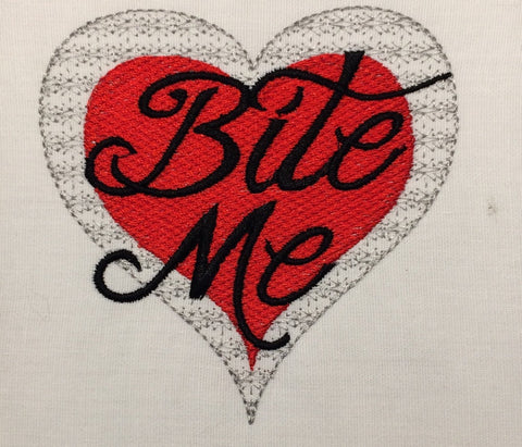 Sarcastic Valentine heart machine embroidery design 4x4