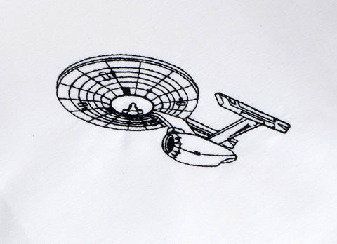 Space Exploration Vessel corner to corner diagonal placement 4x4 machine embroidery design